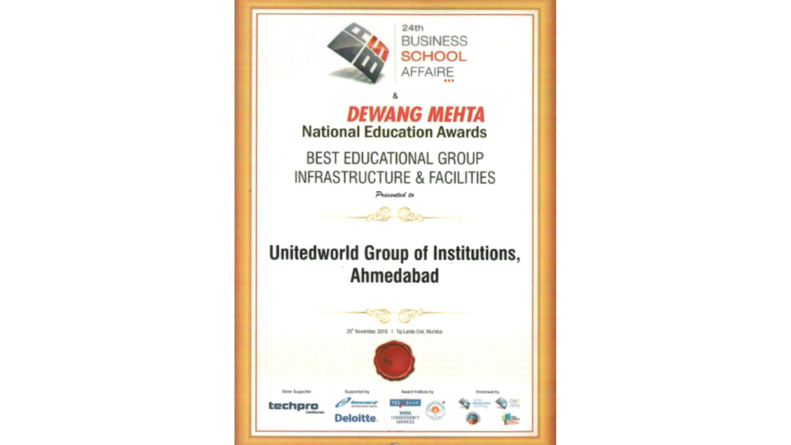 Dewang Mehta National Education Award Image