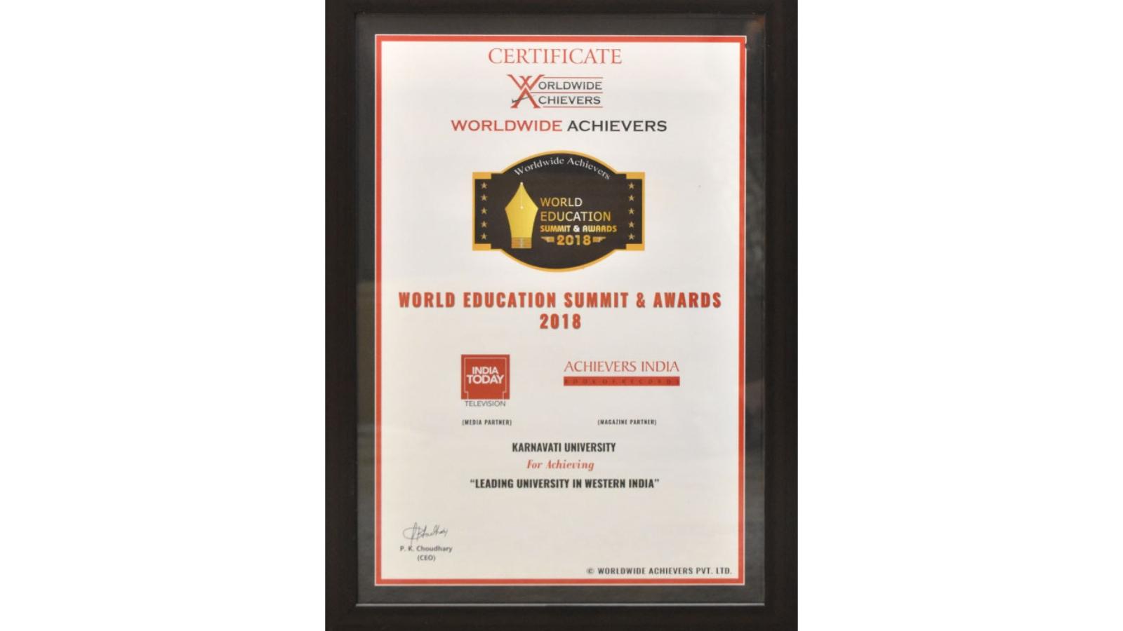 KU awarded 'Leading University in Western India' Image