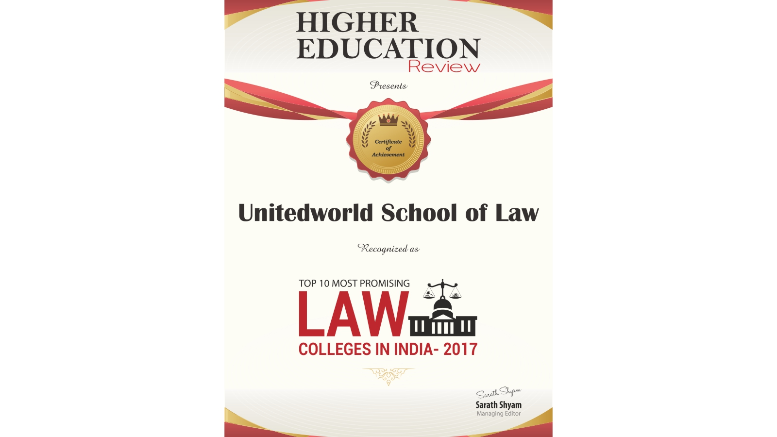 Top 10 Promising Law Colleges in India-2017 Image