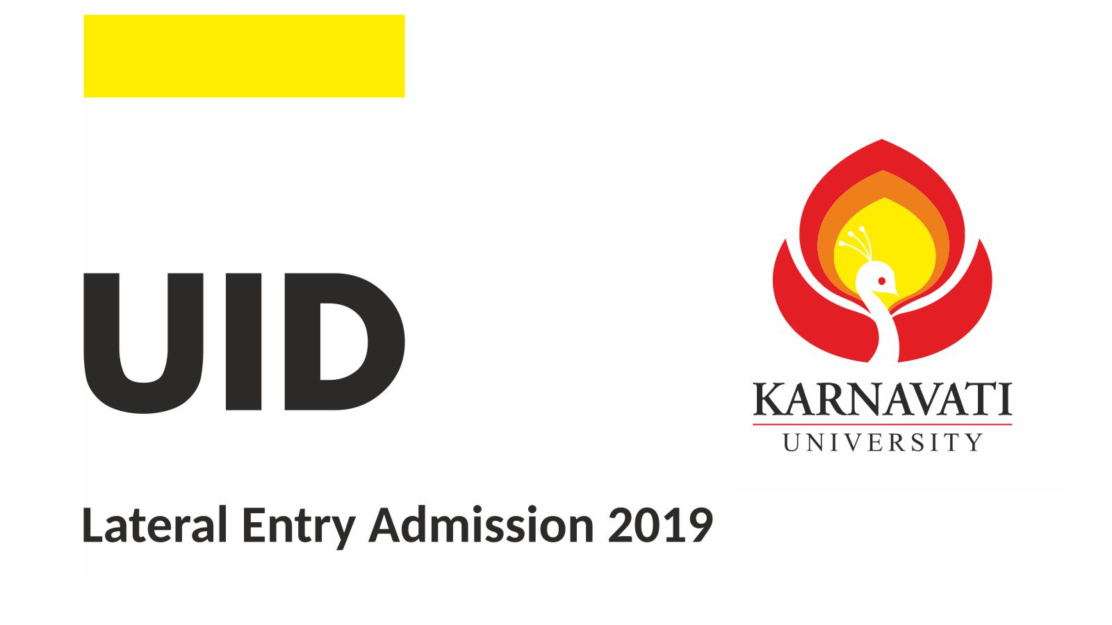 UID – Lateral Entry Admission 2019 Image