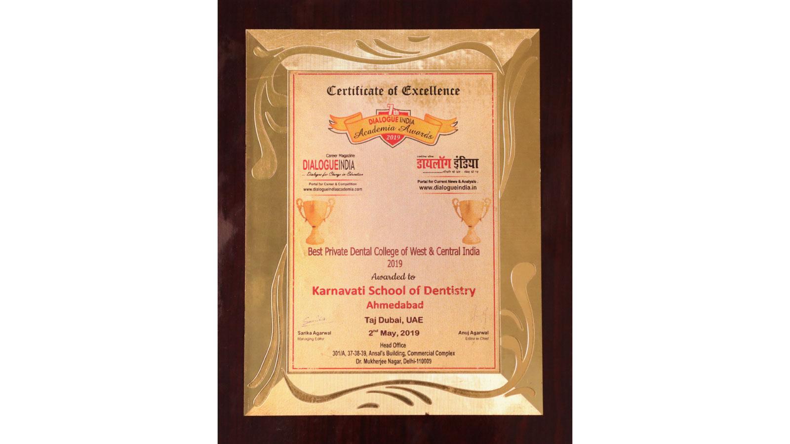 Dialogue India Award - Karnavati University