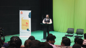 Parth Kotecha - International Motivational Speaker at Karnavati University