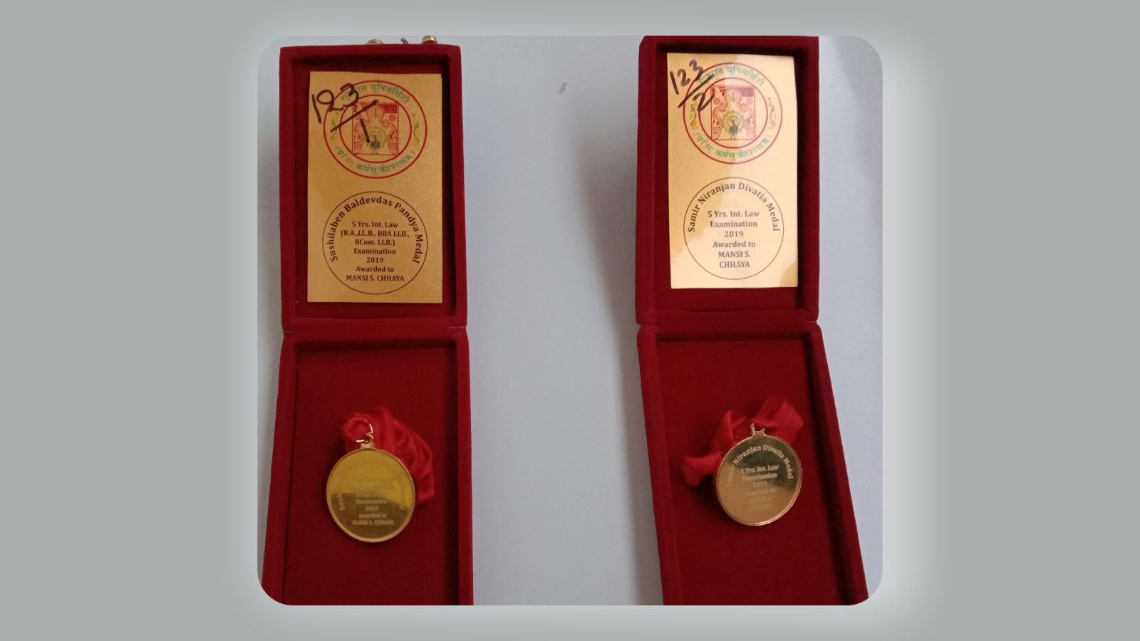 Gold Medal for UWSL student Image