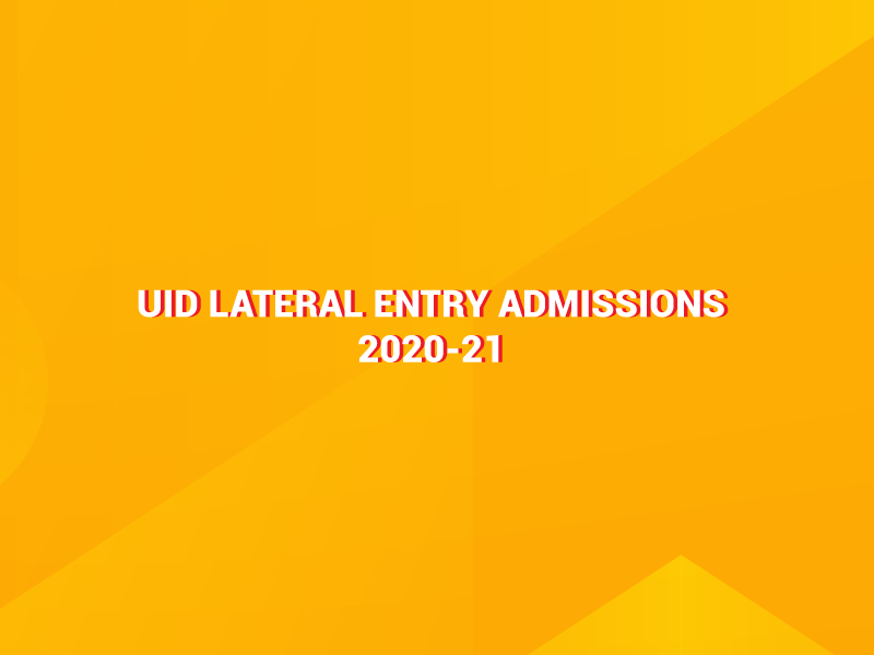 UID Lateral Admissions 2020-21 Image