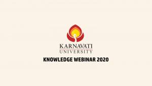 Knowledge Webinar at Karnavati University