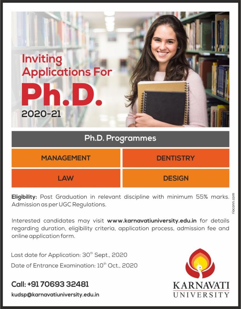 Ph.D. Programmes at karnavati University